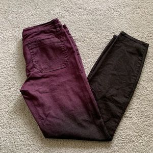 Red and Black Prana Jeans